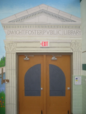 Our library doors...now at Purdy Elementary!